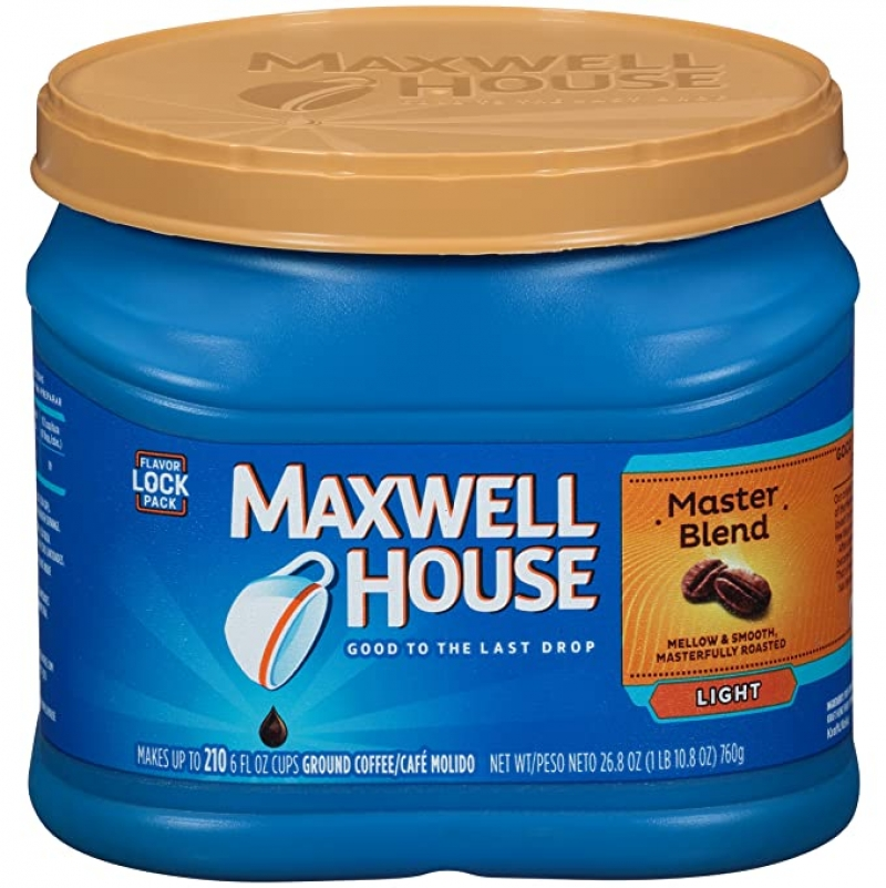 ihocon: Maxwell House Master Blend Light Roast Ground Coffee (26.8 oz Canister)研磨咖啡粉