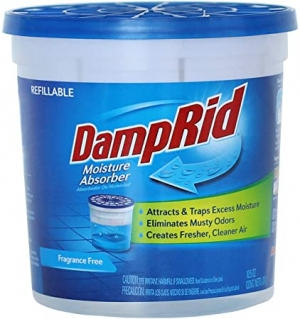 ihocon: DampRid Fragrance Free Refillable Moisture Absorber - 10.5oz cup – Traps Moisture for Fresher, Cleaner Air 不含香料吸濕劑