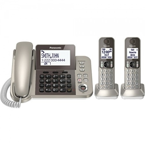 ihocon: PANASONIC Corded / Cordless Phone System with Answering Machine and One Touch Call Blocking – 2 Handsets有線/無線答錄電話系統, 1主機+2無線分機