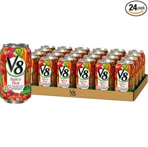 ihocon: V8  Original Spicy Hot 100% Vegetable Juice 11.5 oz. Can (Pack of 24)蔬菜汁