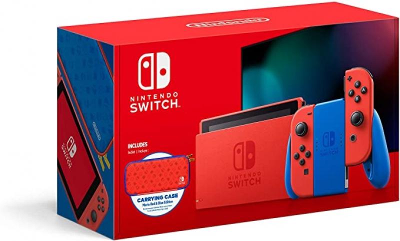 ihocon: Nintendo Switch遊戲機 - Mario Red & Blue Edition 瑪利歐亮麗紅X亮麗藍主機