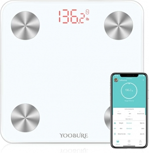 ihocon: Yoobure Bluetooth Body Composition Analyzer Wireless BMI Scale Health Monitor 400lb 體脂體重計