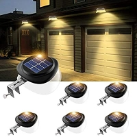 ihocon: JSOT Solar 9 LED Outdoor Fence Light Waterproof  (Yellow Light, Pack of 6)太陽能戶外燈6盞