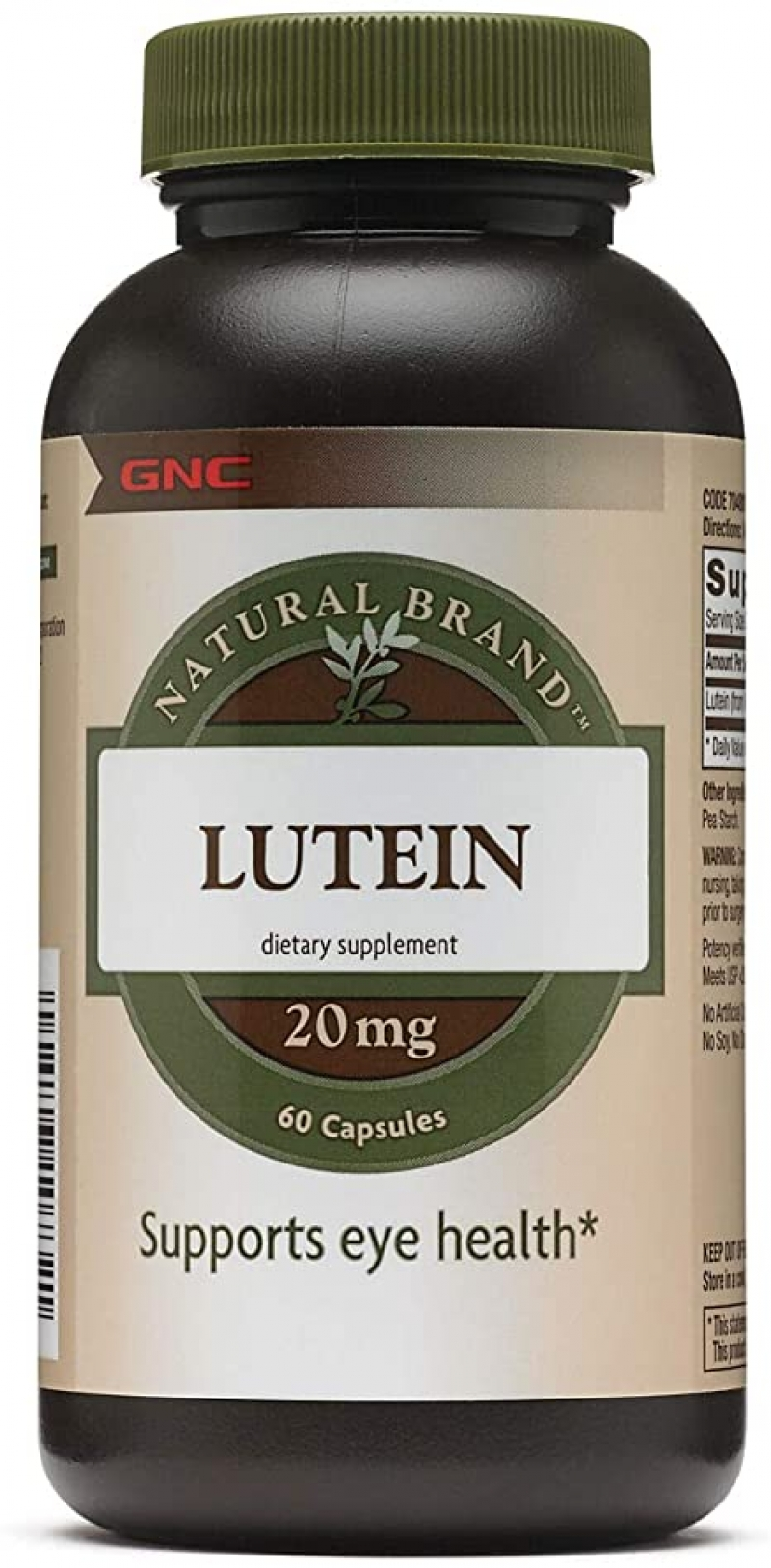 ihocon: Gnc Natural Brand Lutein 20 Mg Capsules, 60 Count 葉黃素