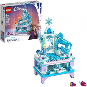 ihocon: LEGO Disney Frozen II Elsa's Jewelry Box Creation 41168 Disney Jewelry Box Building Kit with Elsa Mini Doll and Nokk figure for Creative Play (300 Pieces)