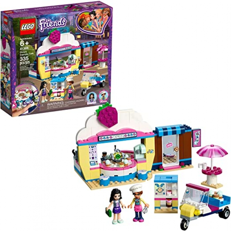 ihocon: 樂高積木LEGO Friends Olivia's Cupcake Café 41366 Building Kit (335 Pieces)