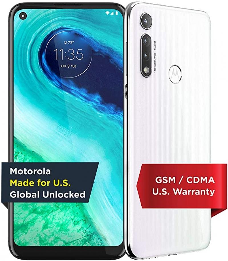 ihocon: Moto G Fast (2020) 32GB Global Unlocked Smartphone (White) 智能手機