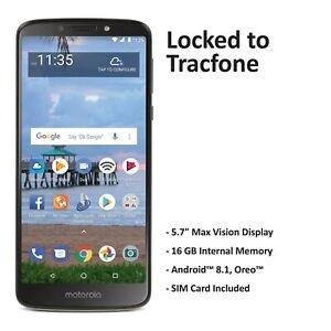ihocon: Tracfone Motorola E5 4G LTE Prepaid Cell Phone 預付手機