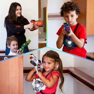ihocon: Best Choice Products Infrared Laser Tag Blasters and Vests for Kids & Adults Set of 4 雷射/激光玩具槍及標靶背心