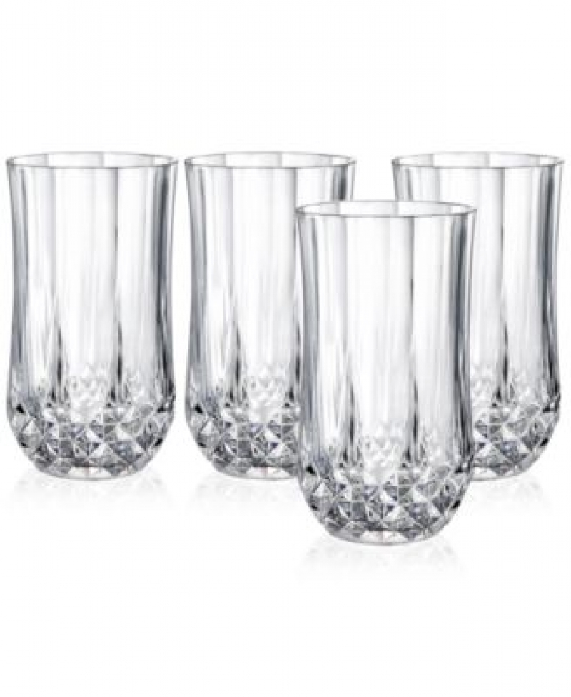 ihocon: Longchamp Cristal D'Arques Set of 4 Highball Glasses 水晶玻璃杯