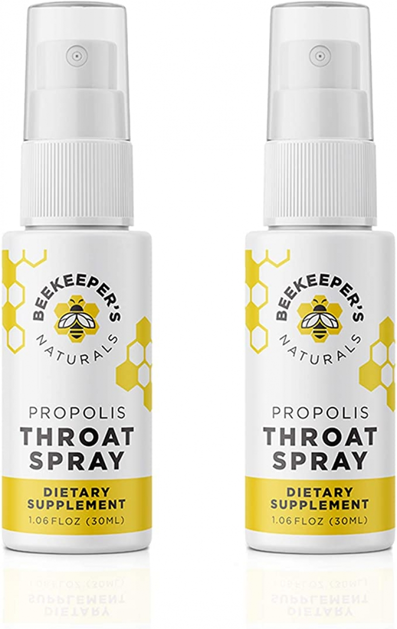 ihocon: BEEKEEPER'S NATURALS Propolis Throat Spray - 95% Bee Propolis Extract, 1.06 oz (Pack of 2) 蜂膠噴劑