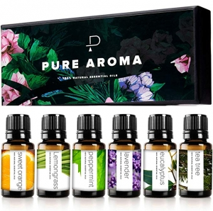 ihocon: PURE AROMA 100% Pure Therapeutic Grade Essential Oils kit, 6 Pack, 10ML 精油