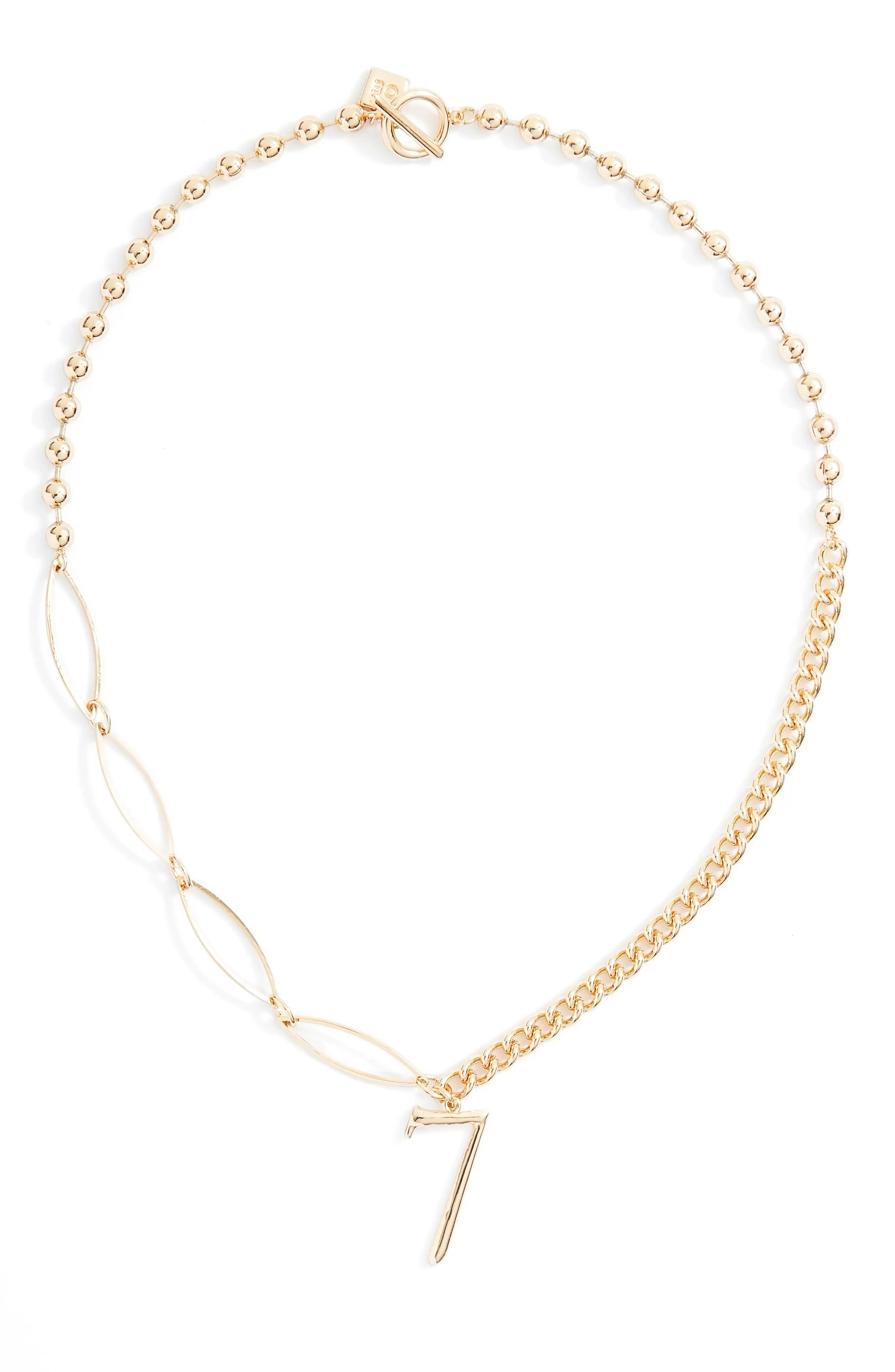 ihocon: OPEN EDIT Lucky Number Pendant Necklace   幸運數字項鍊(可選1-9)