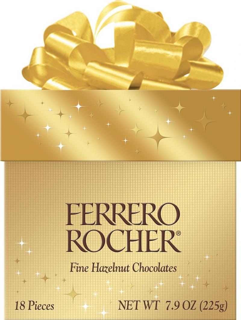 ihocon: Ferrero Rocher Hazelnut Chocolates Gift Cube 18-pc 金莎巧克力禮盒