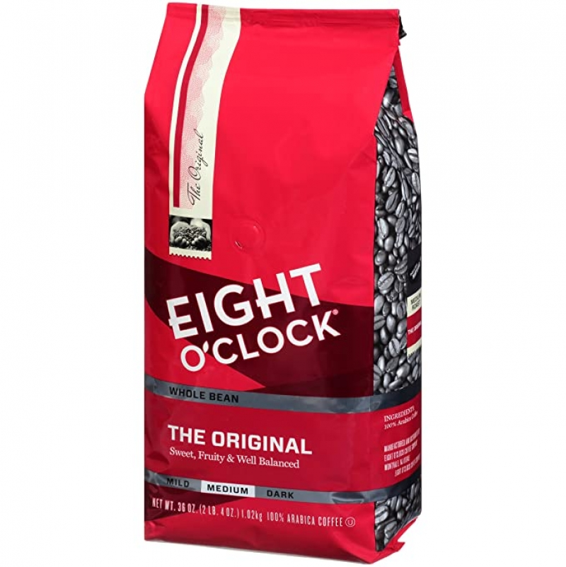 ihocon: Eight O'Clock Whole Bean Coffee, The Original, 36 Ounce 咖啡豆