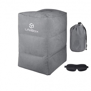 ihocon: LifeBox Inflatable Foot Rest Travel Pillow  w/ Blackout Sleeping Mask 充氣旅行腳踏枕及眼罩