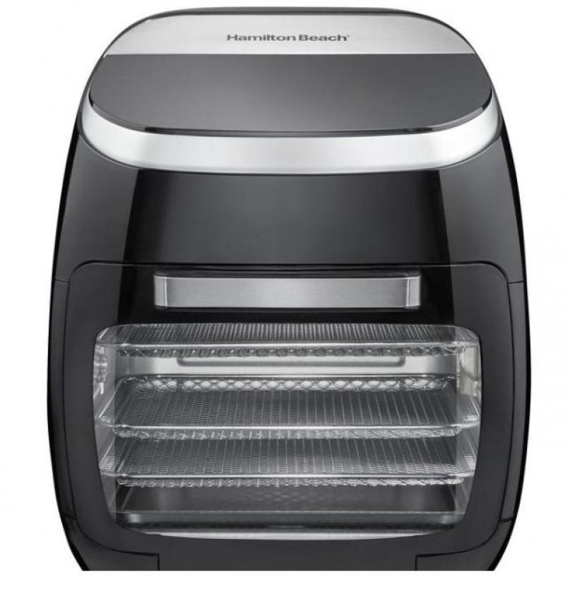 ihocon: Hamilton Beach 11 Qt. Black Digital Air Fryer with Rotisserie and Rotating Basket 氣炸鍋, 含烤雞轉盤