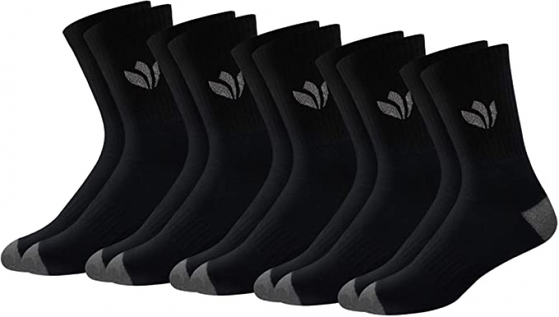 ihocon: Fresh Feet All Day Cushion Comfort Cotton Crew Socks 男襪5雙
