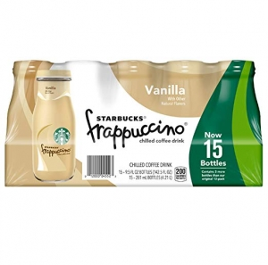 ihocon: Starbucks Frappuccino, Vanilla, 9.5 Fl. Oz Glass Bottles, 15Count