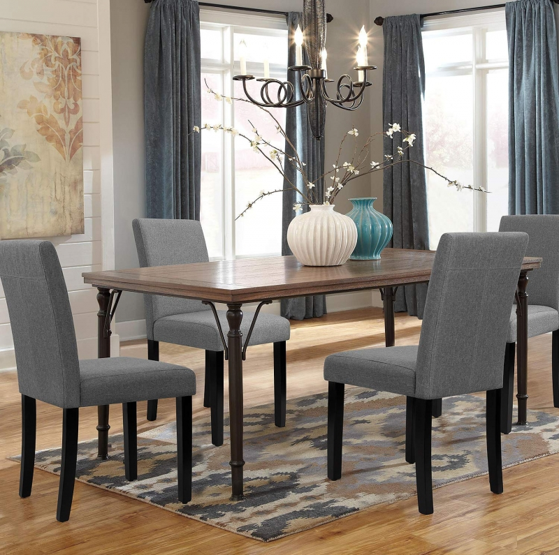 ihocon: Walnew Set of 4 Modern Upholstered Dining Chairs with Wood Legs 軟墊餐椅
