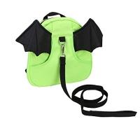 ihocon: Zicac Toddler Bat Walking Safety Harness Leash Cute Pre-School Backpack Reins Bag (Green) 幼兒防走失牽繩背包