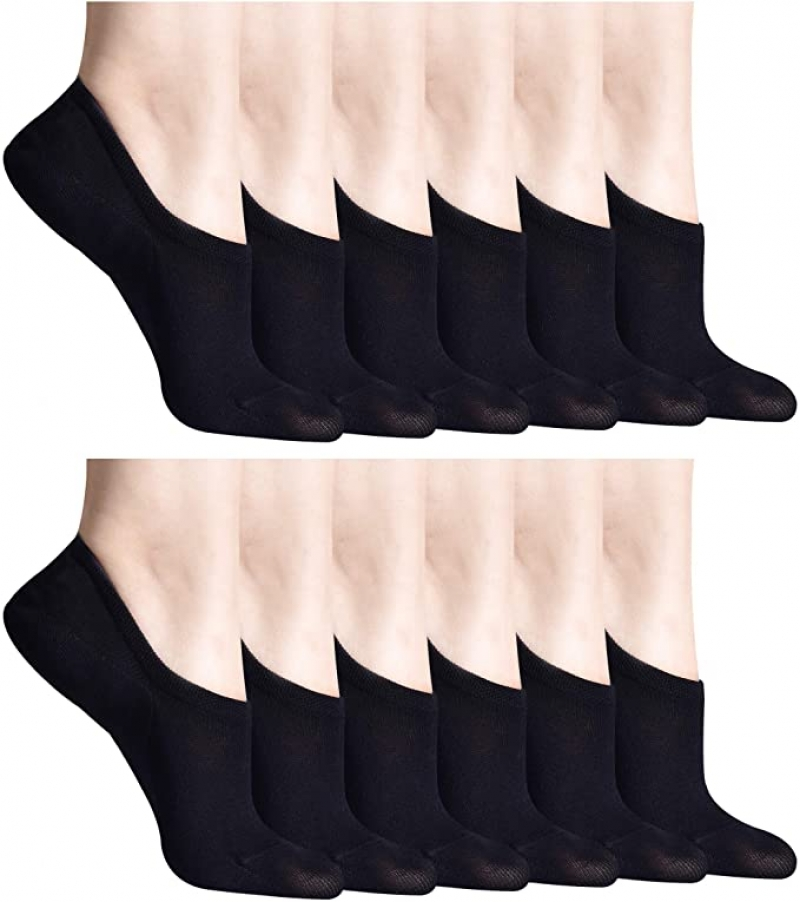 ihocon: SIONCY No Show Socks for Women 女襪12雙
