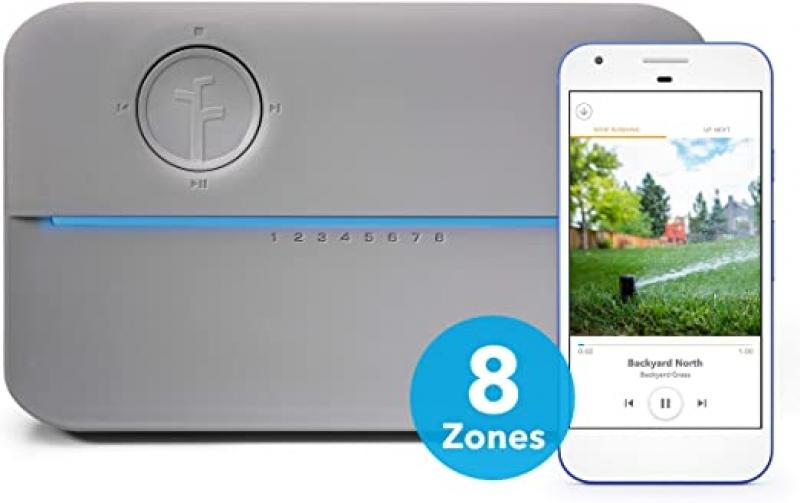 ihocon: Rachio 8ZULWC-L R3e Generation: Smart, 8 Zone Sprinkler Controller, Works with Alexa 智能灑水控制器