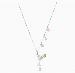 ihocon: Swarovski 施華洛世奇水晶 No Regrets Cocktail Pendant, Multi-colored, Rhodium 項鍊