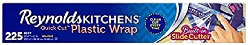 ihocon: Reynolds Kitchens Quick Cut Plastic Wrap - 225 Sq Ft roll保鮮膜