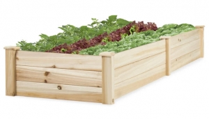 ihocon: Best Choice Product 8x2ft Elevated Wooden Garden Bed Planter for Garden 木製花床