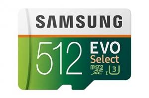 ihocon: Samsung 512GB 100MB/s (U3) MicroSD Evo Select Memory Card with Adapter (MB-ME512GA/AM)