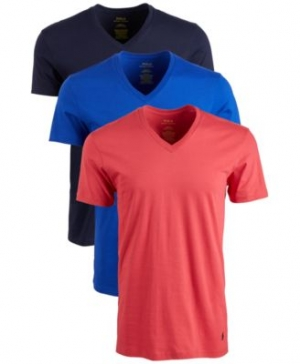 ihocon: Polo Ralph Lauren Men's Classic V-Neck Cotton男士純棉 T-Shirt, 3-Pk