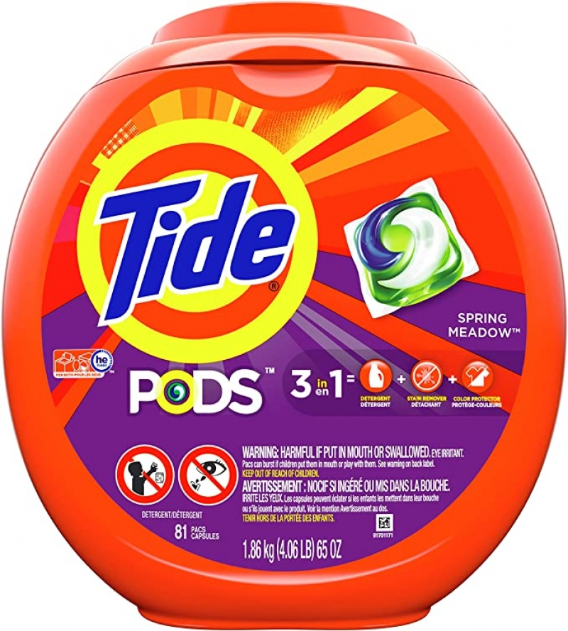 ihocon: Tide Pods 3 in 1, Laundry Detergent Pacs, Spring Meadow Scent, 81 Count 洗衣錠