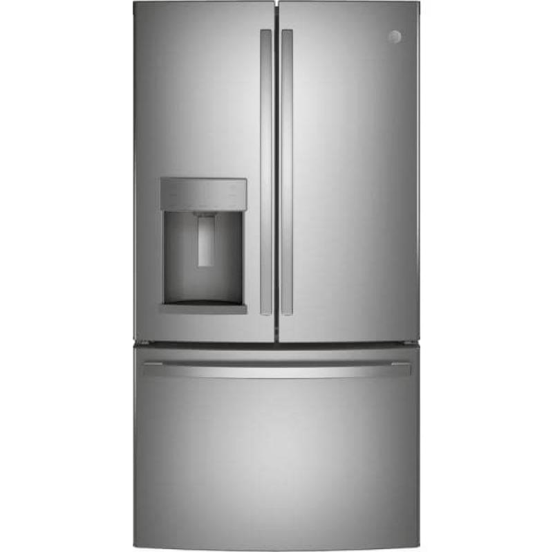 ihocon: GE 27.7 cu. ft. French Door Refrigerator in Fingerprint Resistant Stainless Steel, ENERGY STAR 防指紋不銹鋼冰箱