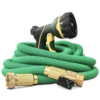 ihocon: NGreen Expandable and Flexible Garden Hose with Spray Nozzle(75 FT)伸縮澆花水管, 含噴水頭
