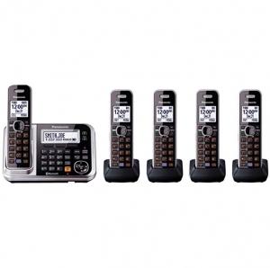 [Amazon今日特價] Panasonic藍牙無線答錄電話 – 1主機+4支分機 $85免運(原價$169.95)