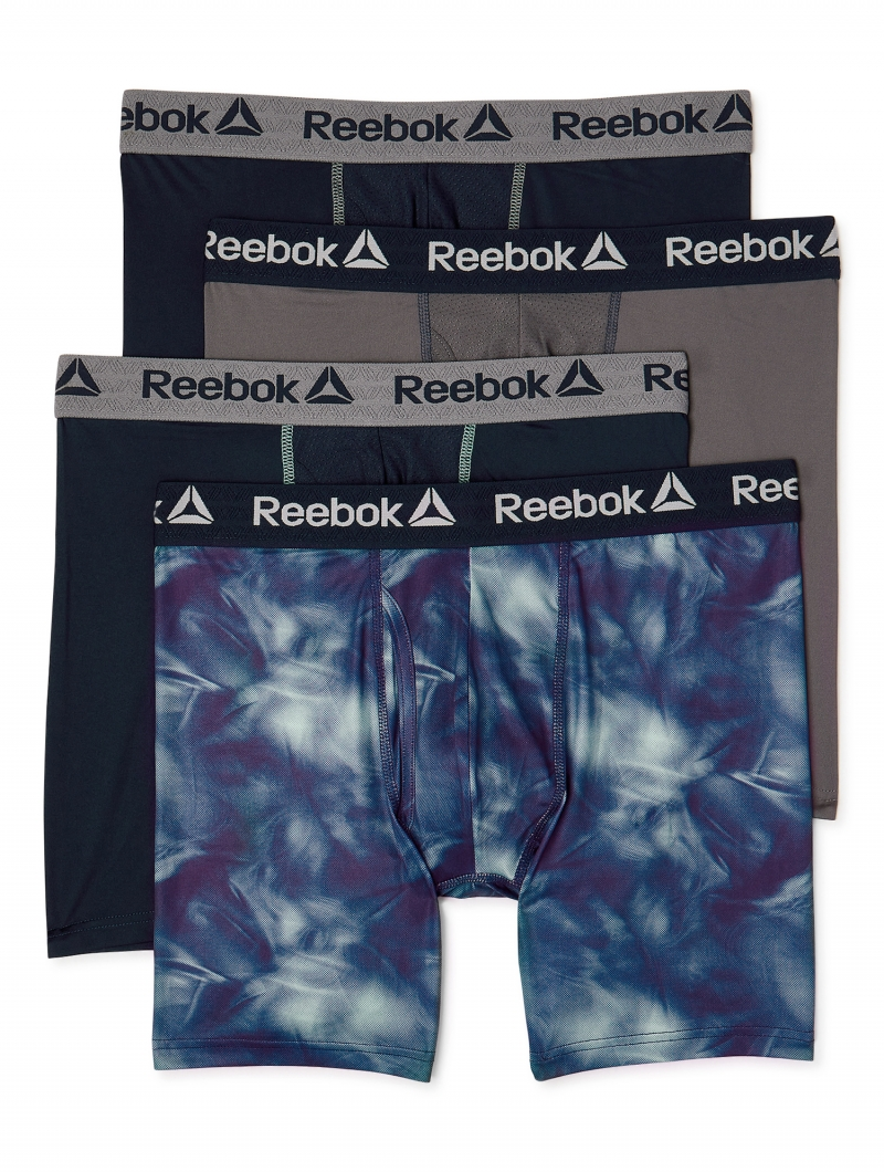 ihocon: Reebok Men's Performance Regular Leg Boxer Briefs, 4 Pack 男士內褲,4件