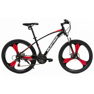 ihocon: Uenjoy 26 Full Wheel Mountain Bike Bicycle 21 Speeds Front Suspension Disc