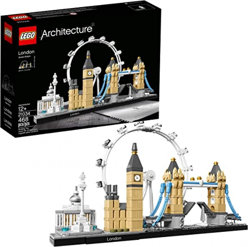 ihocon: 樂高積木LEGO Architecture London Skyline Collection 21034 Building Set Model Kit and Gift for Kids and Adults (468 Pieces) 倫敦天際線