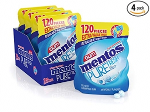 Mentos 無糖口香糖 120粒裝 4袋 $16.79(原價$23.99)