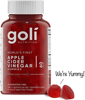 ihocon: [世界上第一款] Goli Nutrition Apple Cider Vinegar Gummy Vitamins, 1 Pack - (60 Count, Organic有機蘋果醋軟糖
