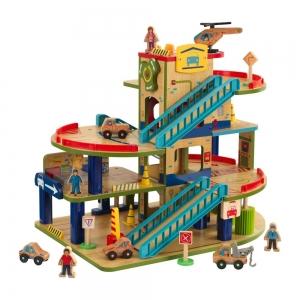 ihocon: KidKraft Wash n Go Wooden Car Garage 木製立體停車場