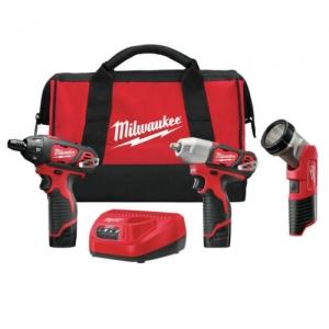 ihocon: Milwaukee 2491-23 M12 Cordless 3-Tool Combo Kit (1.5 Ah) 無線電動工具組
