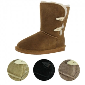 ihocon: Bearpaw Abigail Women's Suede Toggle Sheepskin Winter Boots 女靴