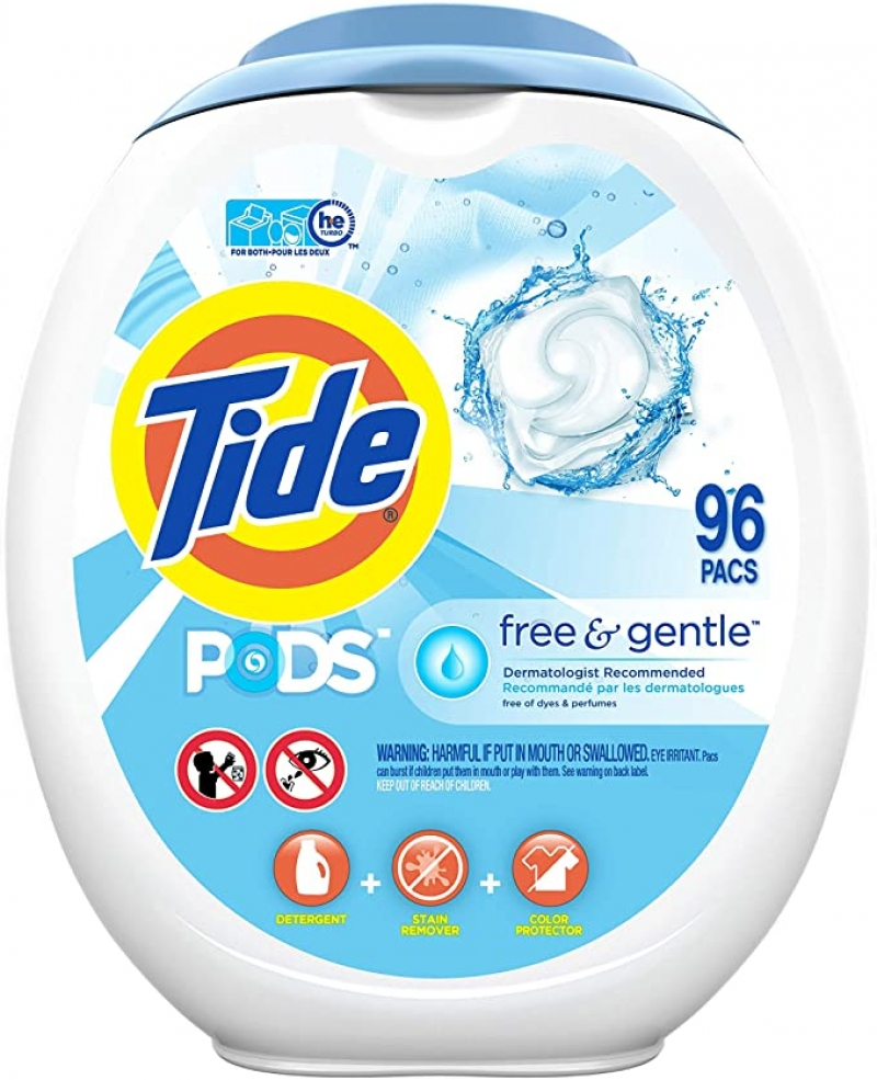 ihocon: Tide PODS Free and Gentle Laundry Detergent, 96 Count 洗衣膠囊