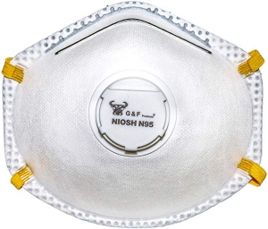 ihocon: G & F 9116 N95 Particulate Respirator Dust Mask with Valve, Box of 10 Pieces 口罩