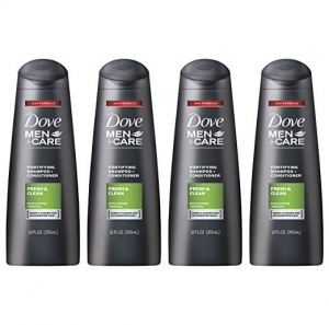 ihocon: Dove Men+Care 2 in 1 Shampoo and Conditioner, Fresh and Clean, 12 oz, 4 count   洗髮精/護髮乳