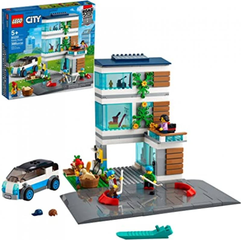 ihocon: [2021新款] LEGO City Family House 60291 Building Kit; Toy for Kids, New 2021 (388 Pieces)