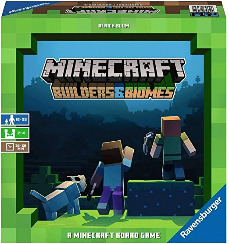 ihocon: 益智桌遊 Ravensburger Minecraft: Builders & Biomes Strategy Board Game