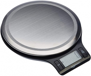 ihocon: AmazonBasics Stainless Steel Digital Kitchen Scale with LCD Display, Batteries Included 不銹鋼廚用電子秤,含電池